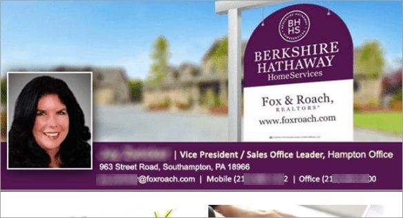 Real estate newsletter header with no title