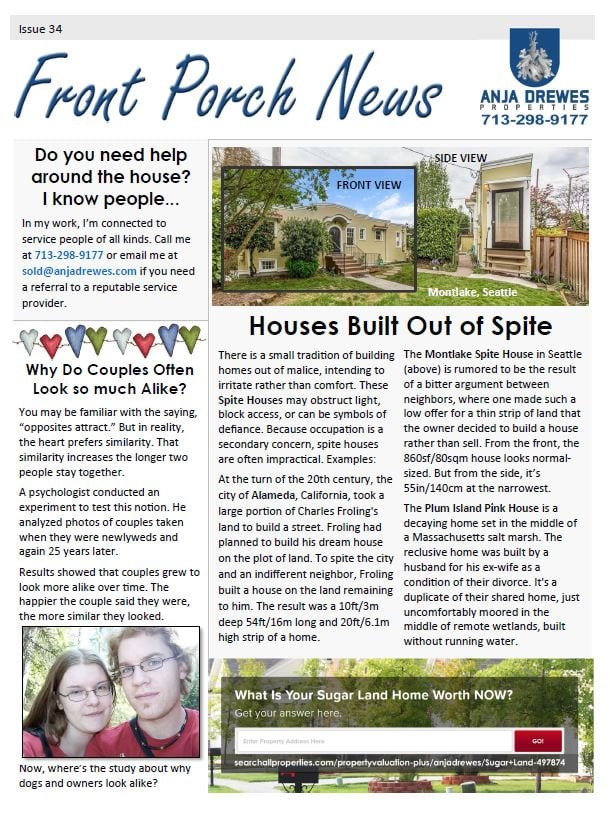 Sample customized real estate newsletter 1