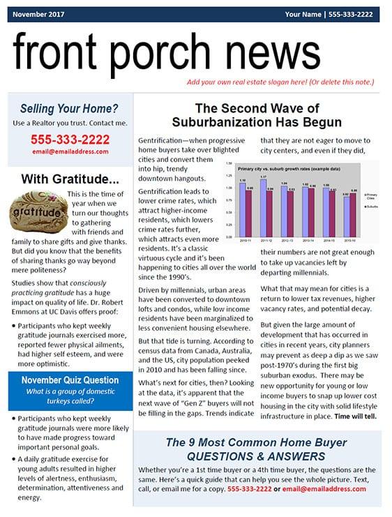 Real estate newsletter sample EDDM