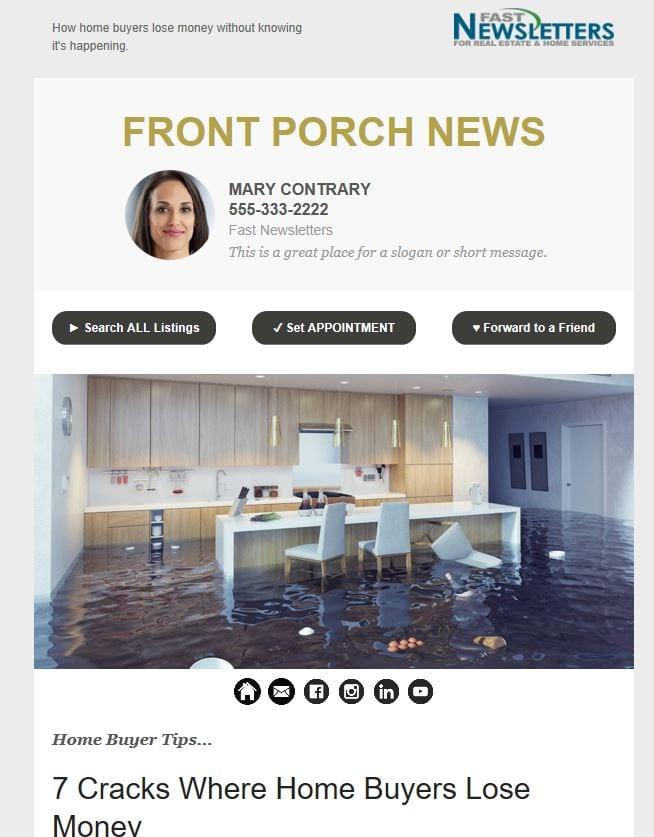 Email real estate newsletter samples